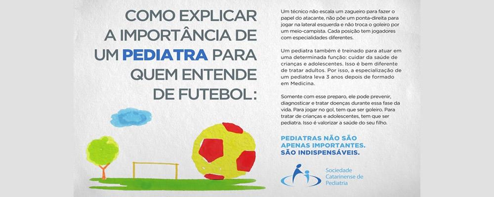 Como explicar a importância de um pediatra para quem entende de futebol